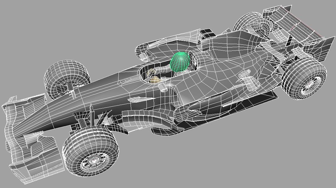 wire frame car diagram